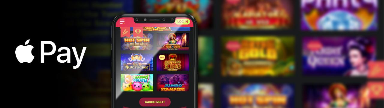 Apple Pay on paras online-kasinotalletusmenetelmä