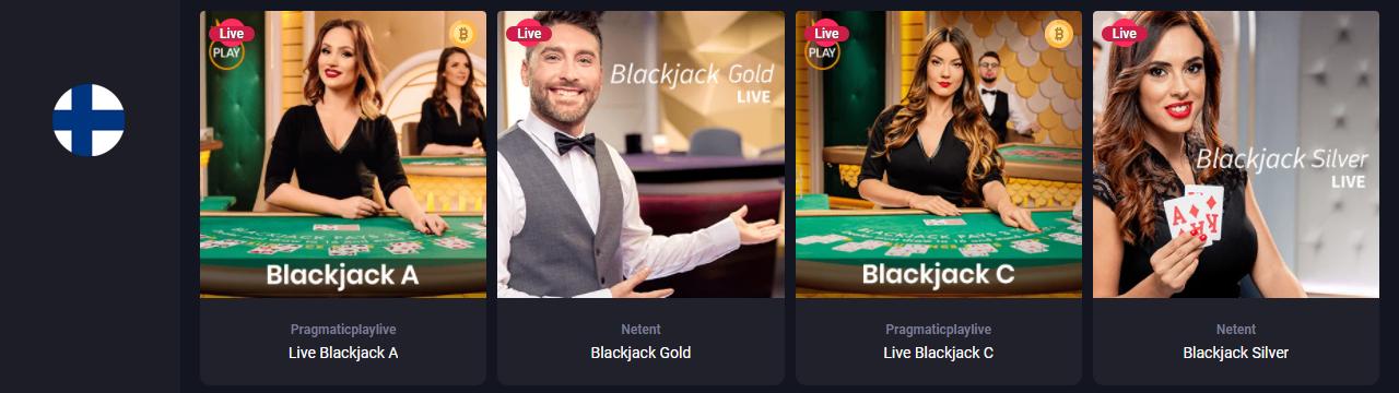 Parhaat Live Dealer Blackjack -pelit