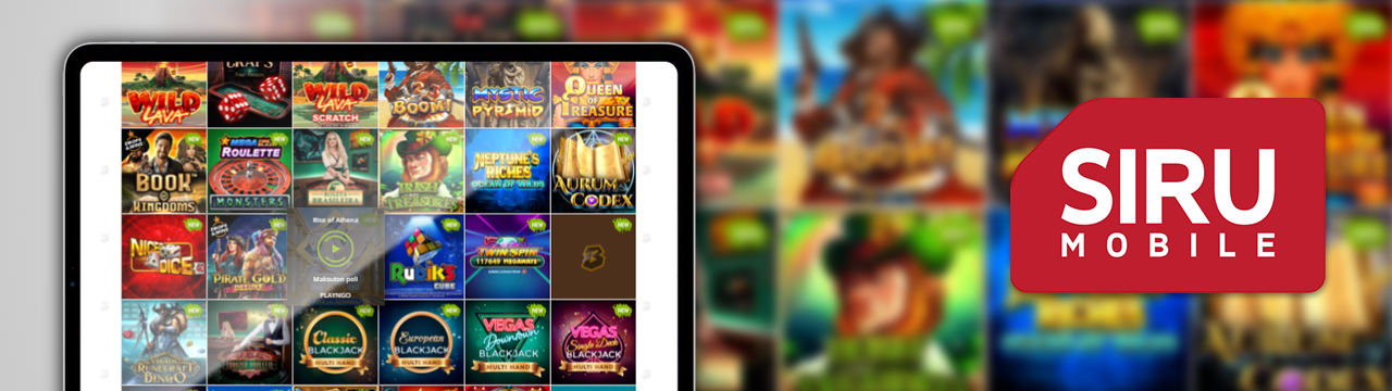 Vain parhaat pelit Siru-mobile kasinolla
