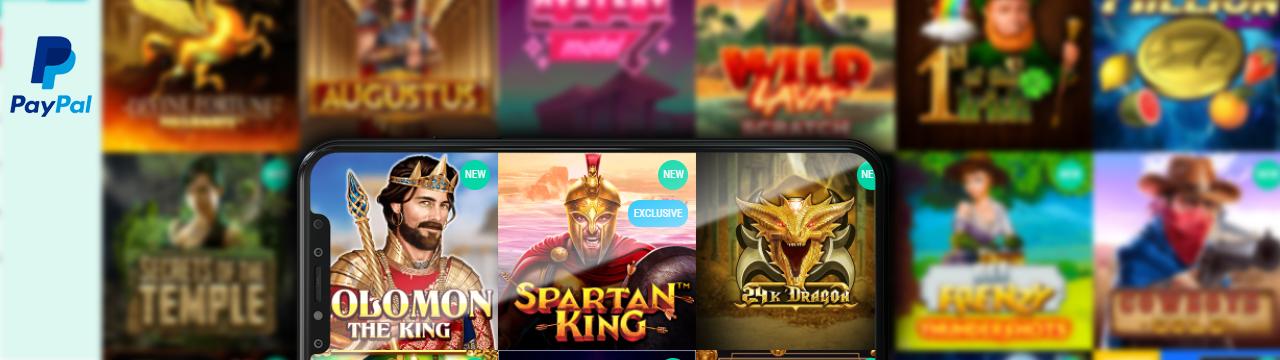 Paras valikoima pelejä Paypal Casinolla