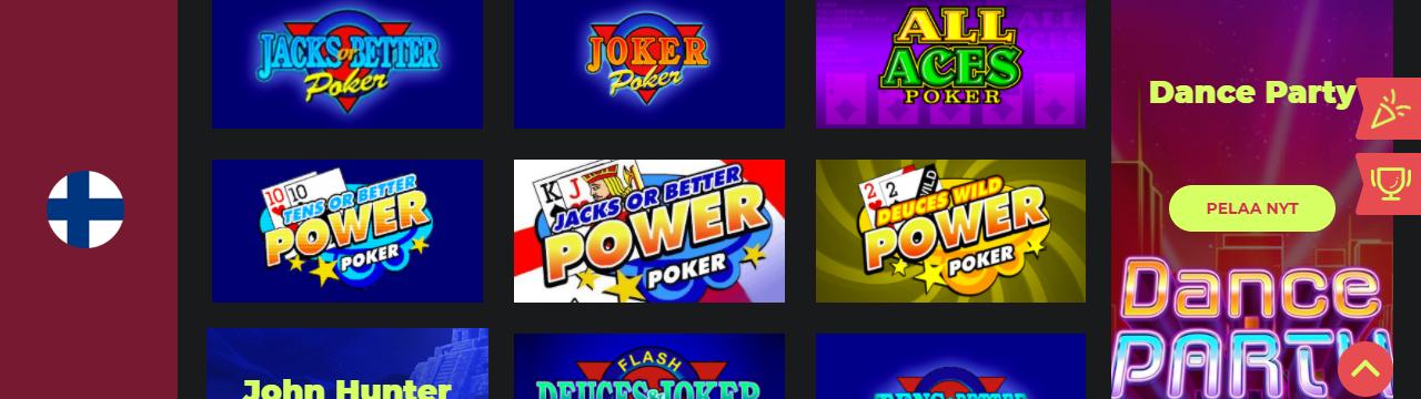 Parhaat nettikasinon videopokeripelit suomalaisille pelaajille