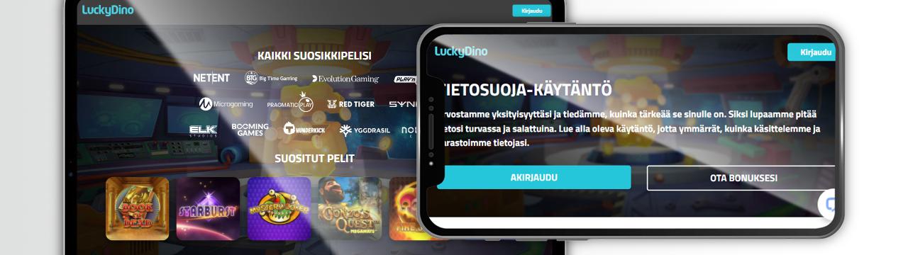 Pelinvalmistajat LuckyDino-mobiilikasinolle