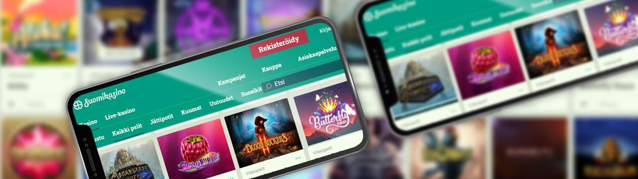 Voit pelata SuomiKasino-mobiilikasinolla