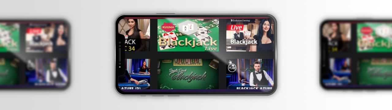Black jack peli live-kasinolla mobiililaitteilla suomalaisille