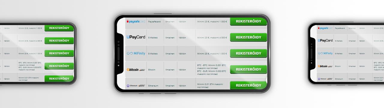 Rekisteröidy ja hanki kasino bonuskoodit