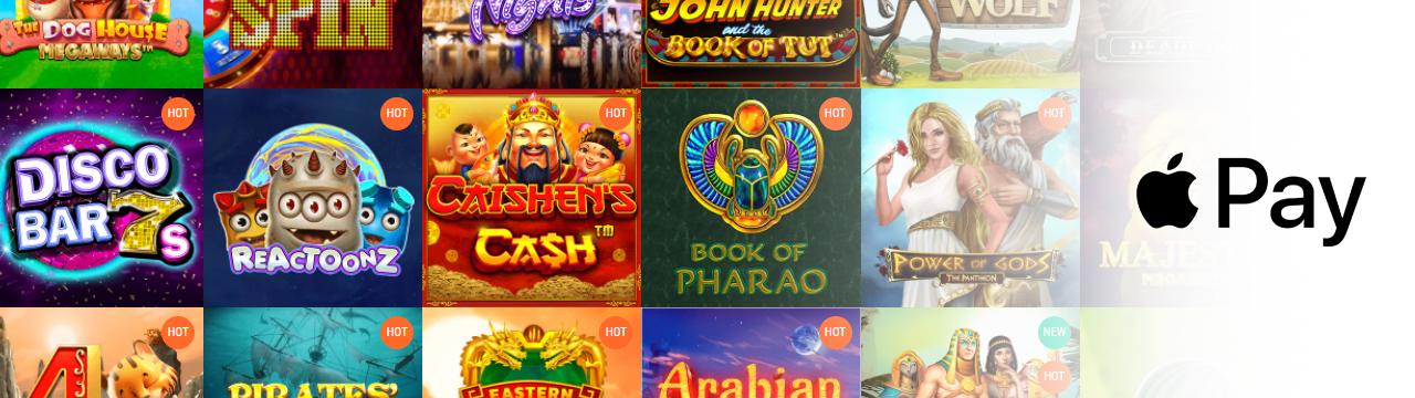 Tarjoa suosittuja pelejä Apple Pay -kasinoilla