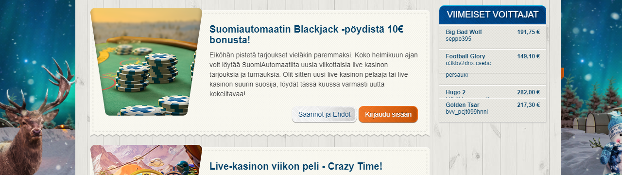 Paras suomalainen online-kasino - SuomiAutomaatti